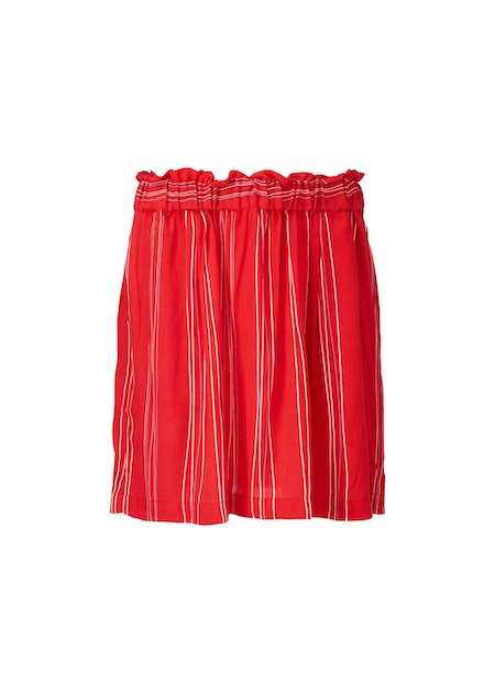 Grazie Print Skirt - Red Stripe