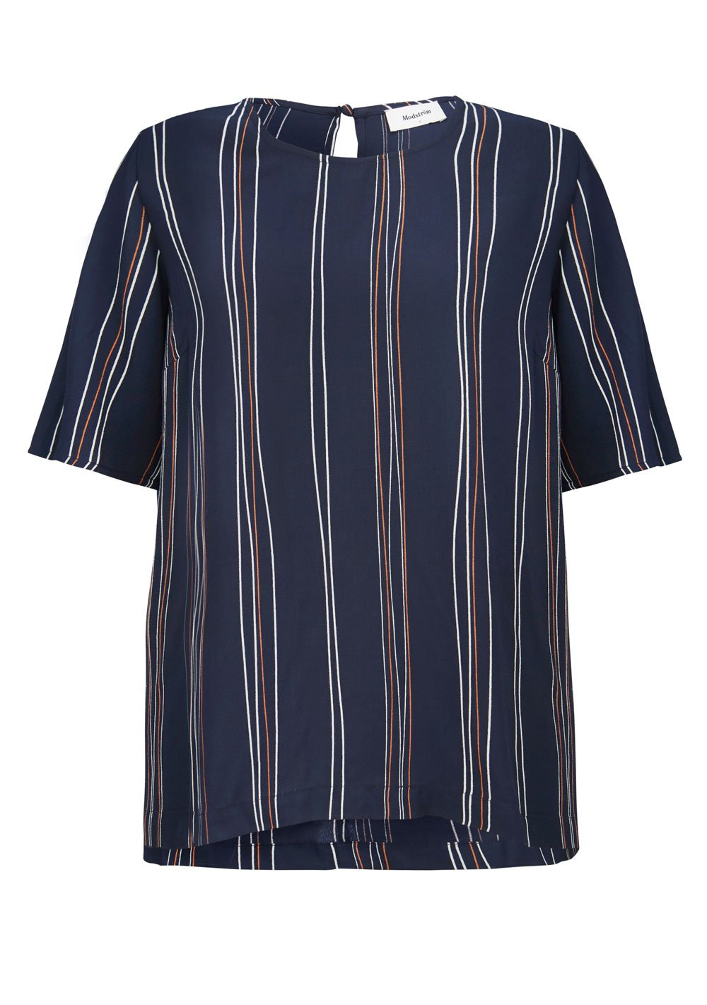 Grazie Print Top - Navy Stripe