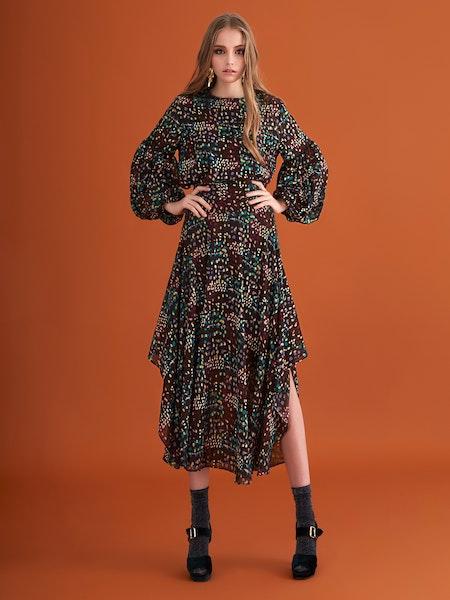 Kirsty Long Skirt - Brown