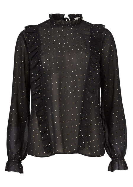 Keanu Print Top - Black