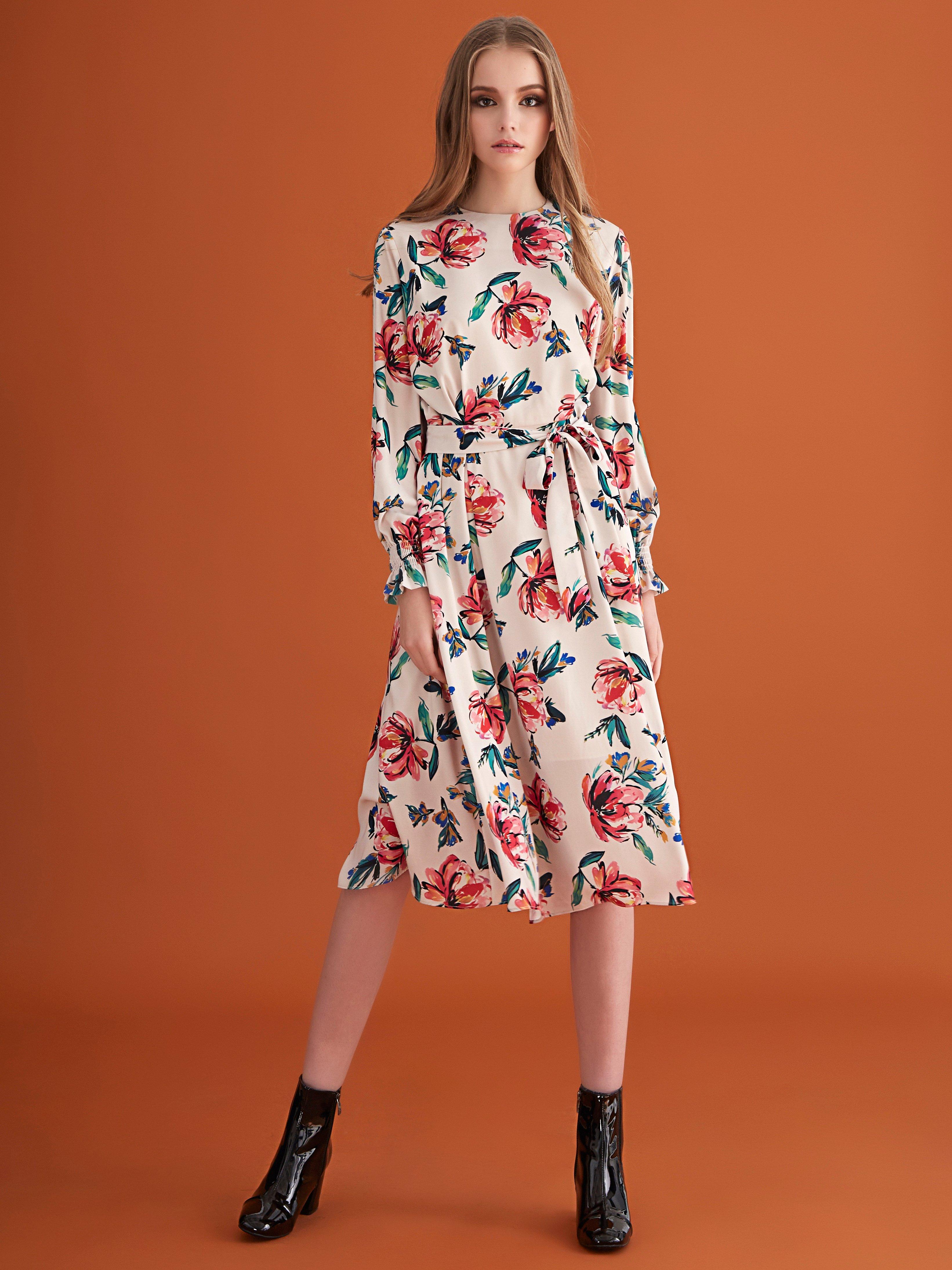 Olive Dress - White