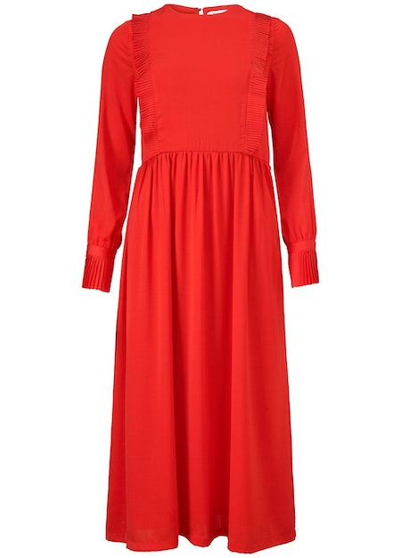 Noelle Dress - Fire Red