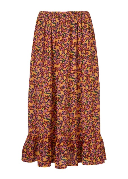Madonna Print Skirt - Flower Love
