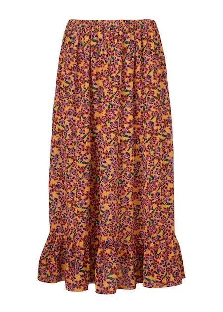 Madonna Print Skirt - Flower Love