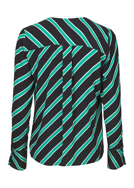 Monet Print Top - Candy Stripe