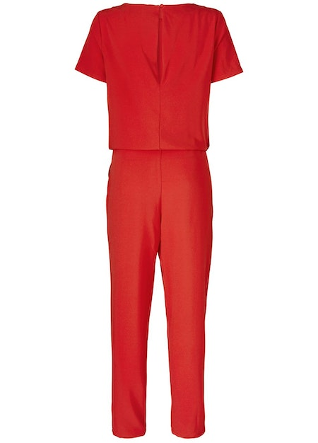 Campell Jumpsuit - Fire Red