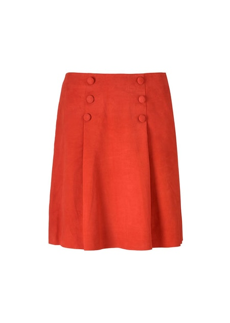 Nelia Skirt - Fire Red