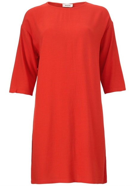 Geo Dress - Fire Red