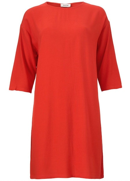 Geo Dress - Fire Red
