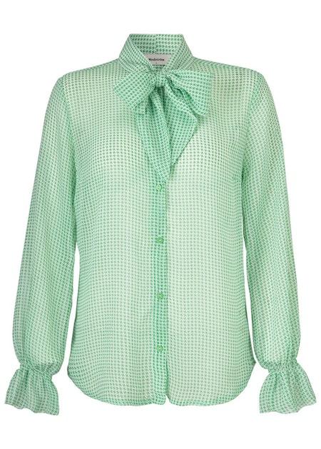 Nicola Print Shirt - Graphic Star Green