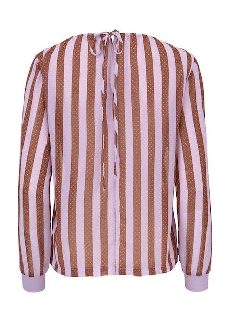 Nille Print Top - Lavender Stripe