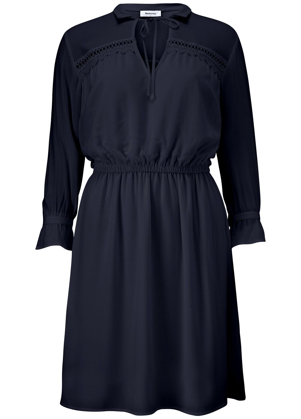 Noa Dress - Navy Ský