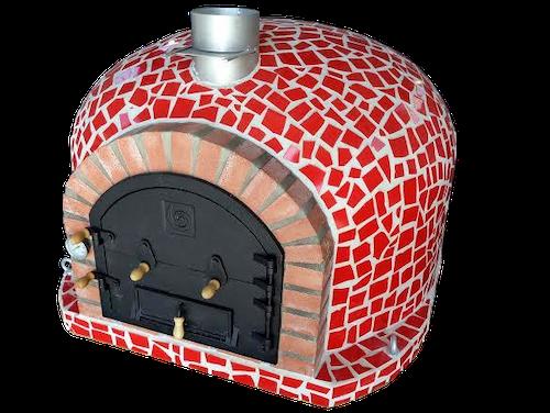 110 x 110 cm Blå, röd eller vit Isolerad mosaik pizzaugn