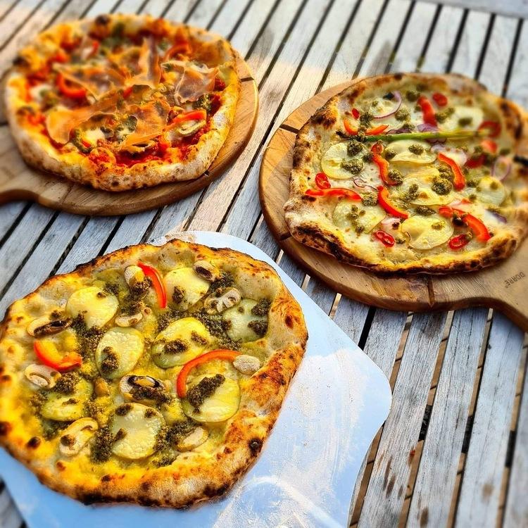 Pizzaugn med natursten 110 cm,nr 28.