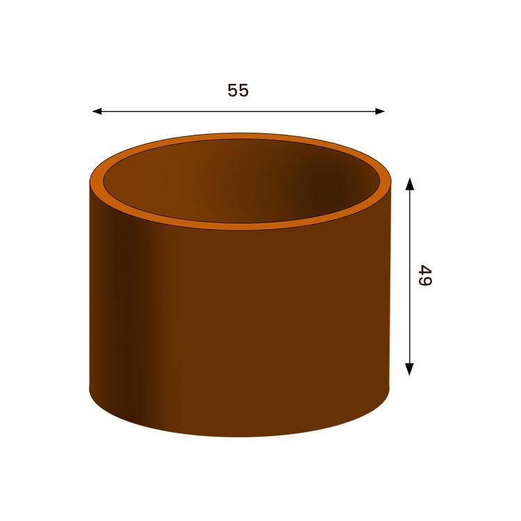 Meri Cortenkruka, Diam 37 cm, H 65 cm (ord 2790:-)