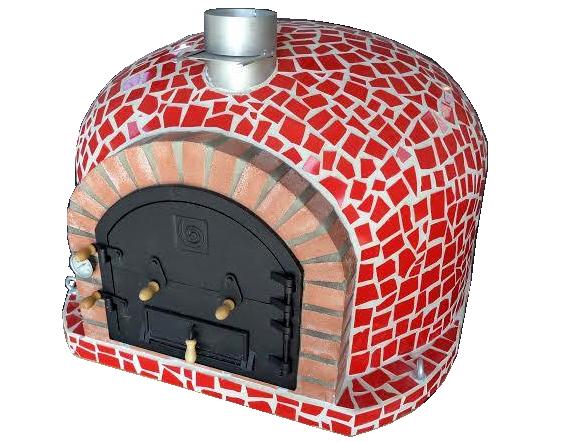 100 x 100 cm Blå, röd eller vit Isolerad mosaik pizzaugn