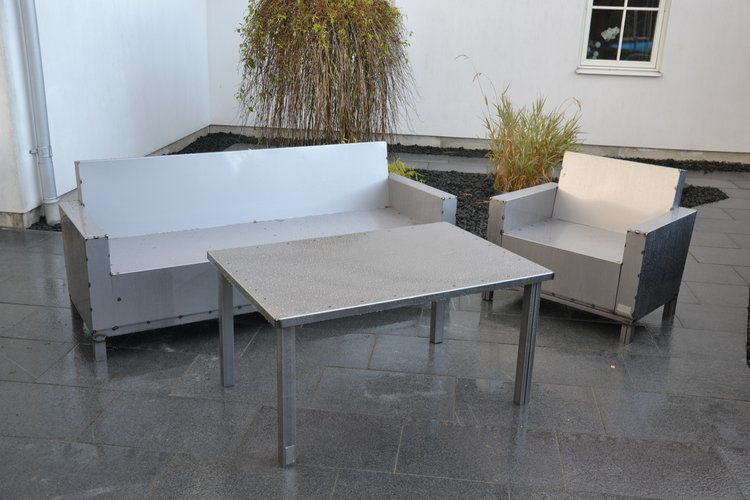 Skylt ex soffa egen design plåt lackad