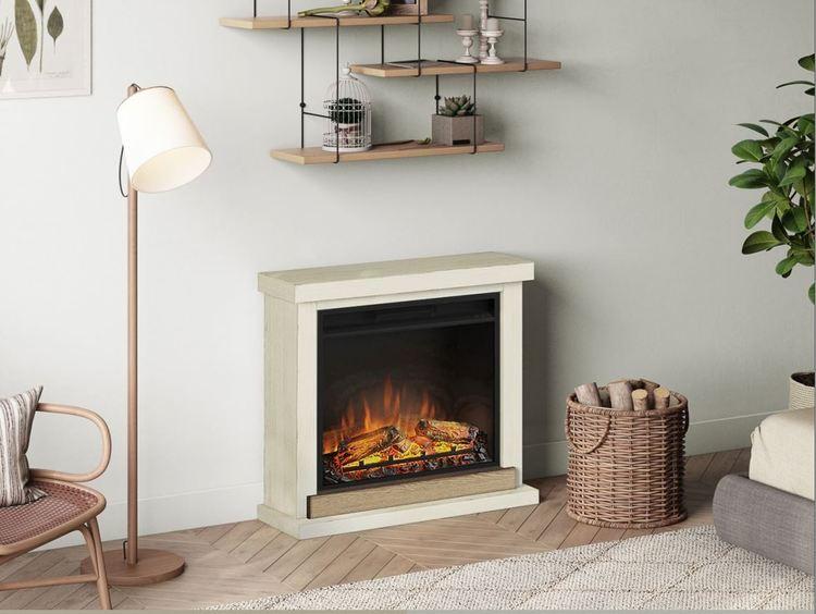 TAGU Hagen Antique Ivory eldstad med värme FM469-IV1-23PF1A