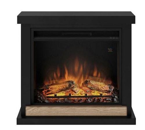 TAGU Hagen deep black eldstad med värme FM469-BL1-23PF1A