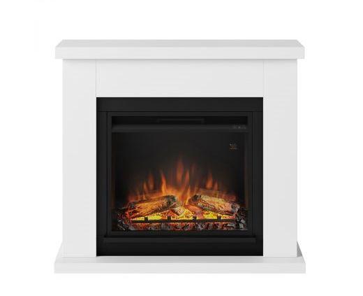 TAGU Frode Pure White eldstad med värme FM461-WH1-23PF1A