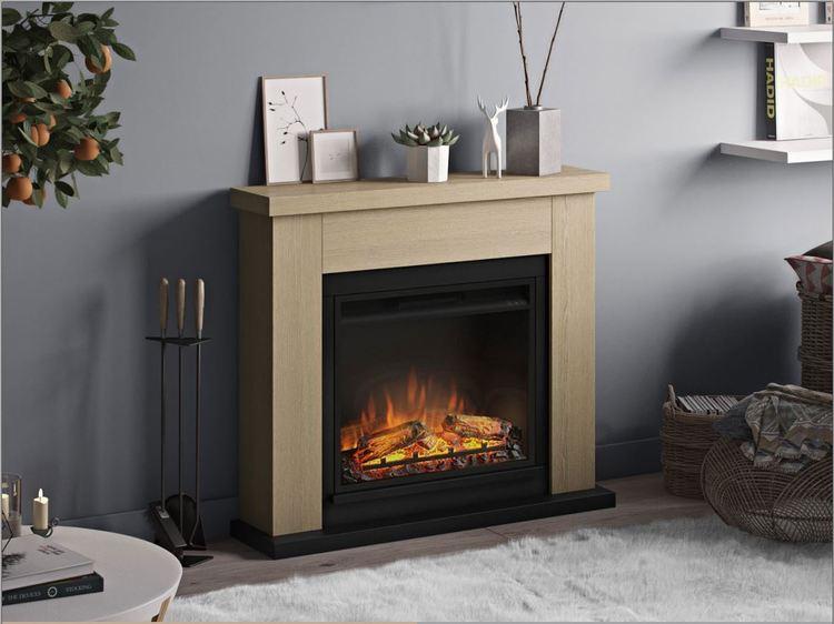 TAGU Frode Natural Oak eldstad med värme FM461-OA1-23PF1A