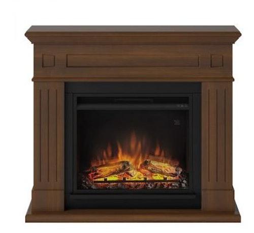 TAGU Larsen Walnut eldstad med värme FM462-WA1-23PF1A