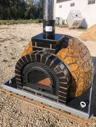 Pizzaugn med natursten 120 cm