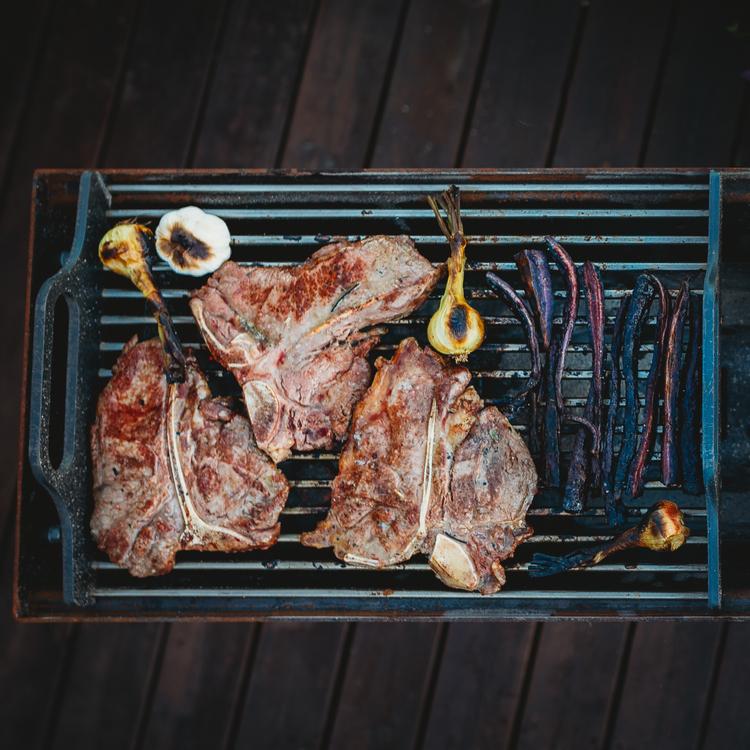 Naked Chef Kolgrill, underbar corten grill