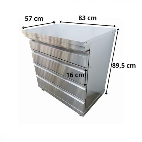 Grillmöbel Omberg med 4 lådor