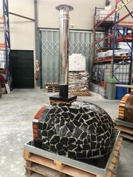Vedeldad Stenugn pizzaugn isolerad 110 cm nr 34