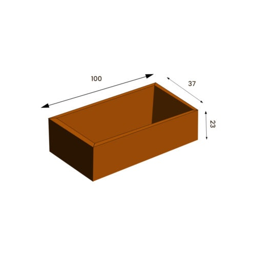 Aura Cortenkruka 37 x 100 H=23 (ord 3590:-)