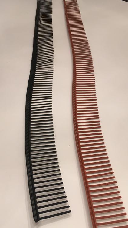 Fågelband 100 m  tegelröd /svart.