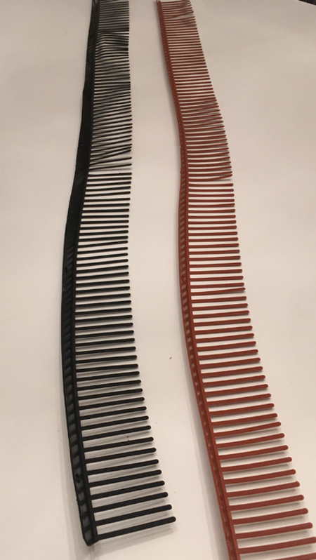 Fågelband 100 m  tegelröd /svart. Fraktfritt