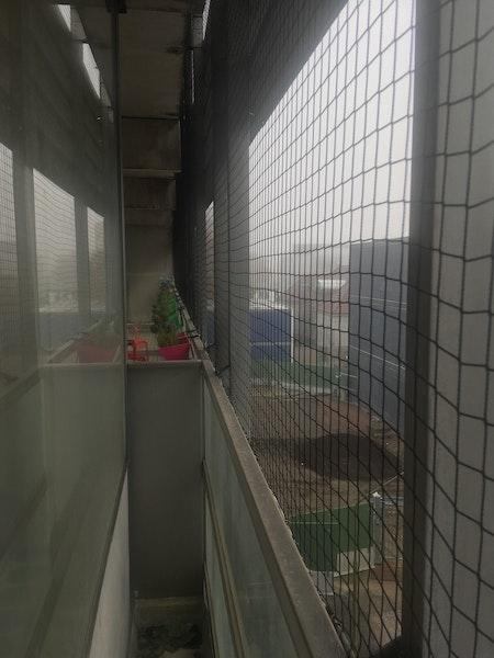 Fågelnät, kattnät 15 x 15 meter. 50 mm Sista ex svart