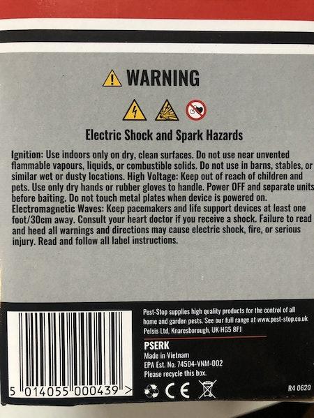 Råttfälla Elektronisk. Obs följ instruktion.