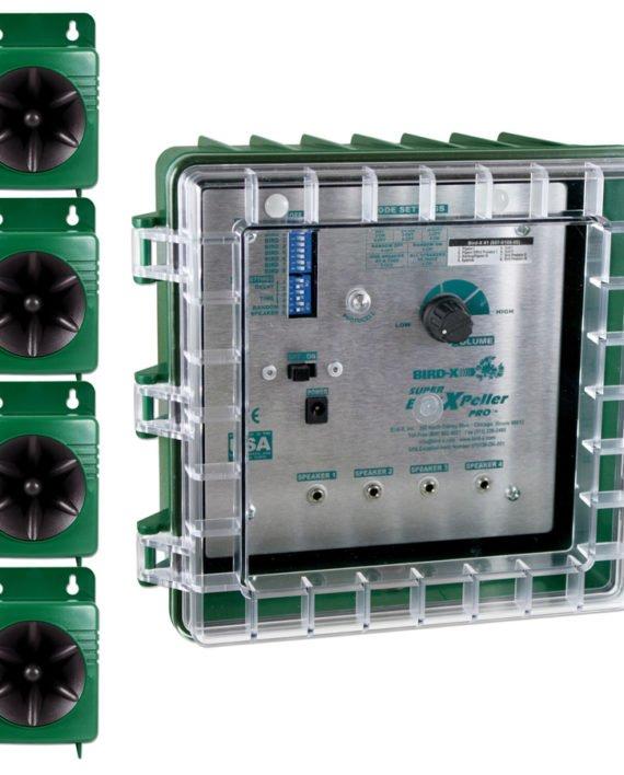Super BirdXPeller® PROs har 4-högtalarsystem .