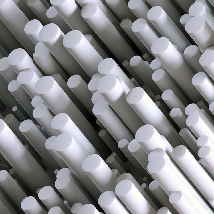 POM 70mm Vit acetalplast