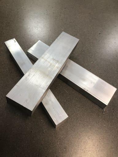 Aluminium Fräsämne 70x40, ca 320mm