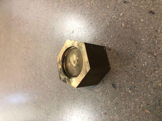 Mässing sexkantstång 45mm