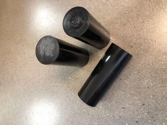 POM Diameter 50, svart plast