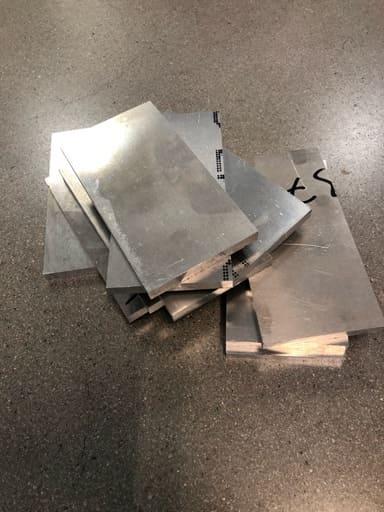 Aluminium plåt 80x10, 10st