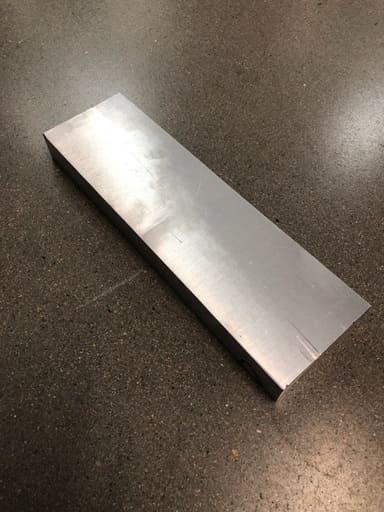 Aluminium Sågad plåt 89x30