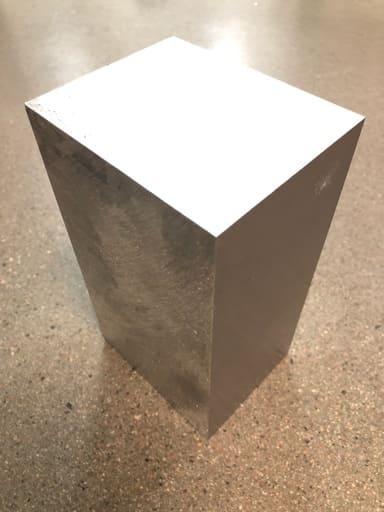 Sågad plåt, aluminium 100x80
