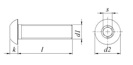 Kullrig Skruv M4 Blankförzinkad