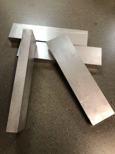 Aluminium 73x30, Längd: 308mm AW6082
