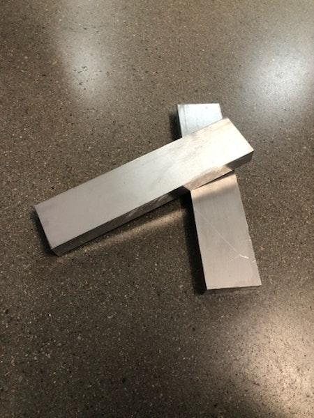 Aluminium 52x20, Längd: 225mm