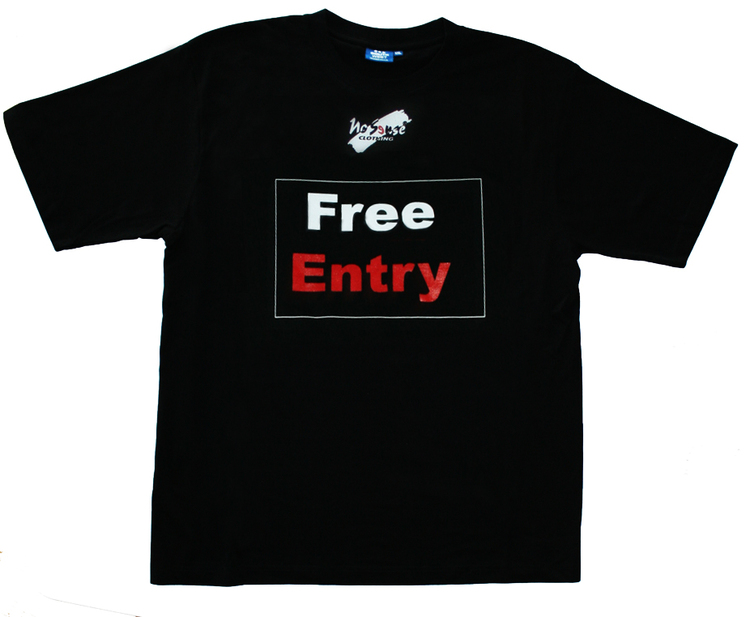 "T-shirt No Sense ""Free Entry"" Ekologisk SUPERREA 40%!"