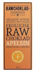 Rawchokladfabriken Apelsin, 50 g