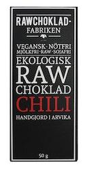 Rawchokladfabriken Chili, 50 g