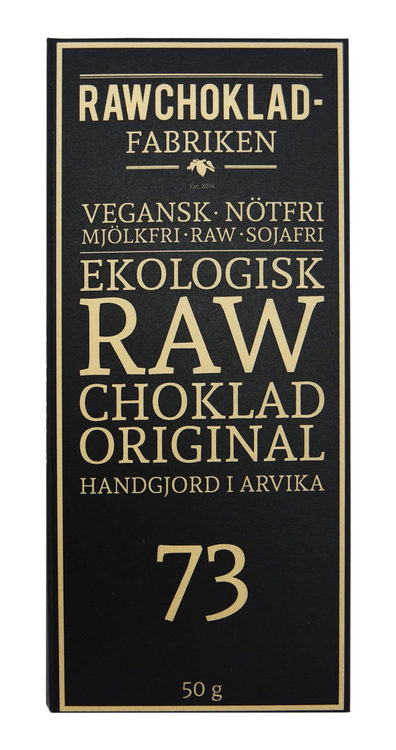 Rawchokladfabriken Original 73%, 50 g